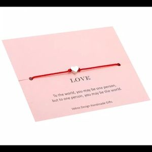 Jewelry - Gold Heart Sharm Red String Love Handmade Bracelet